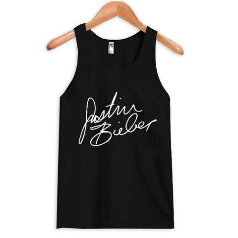 justin bieber signature tanktop #tanktop #tank #top #tanks #tops #clothing #cloth #topsandtee