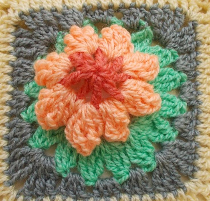 Check out 21 FLOWER GRANNY SQUARES by member Sweet Nothings.FREE pattern at http://shyamanivas.blogspot.in/2015/03/21-flower-granny-squares.html