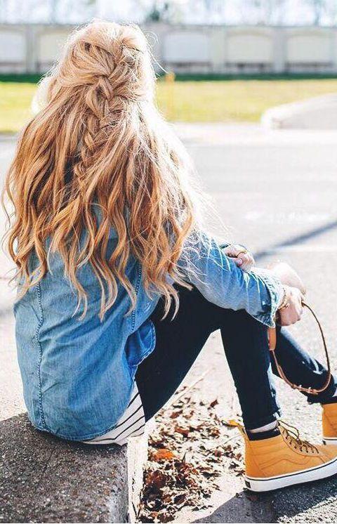 Peinados con trenzas http://beautyandfashionideas.com/peinados-con-trenzas/ Hairstyles with braids #Beauty #Cabello #Hair #ideasdepeinados #Ideasparaelcabello #peinados #peinadoscontrenzas #Trends