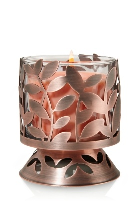 Antique Copper Botanical Pedestal 4 oz. Candle Sleeve: 3 of those would look great by my bedside