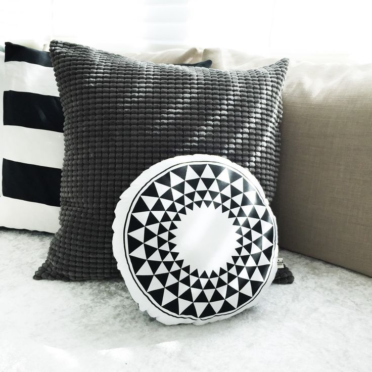 A personal favorite from my Etsy shop https://www.etsy.com/hk-en/listing/237024952/circle-pillow-circle-cushion-monochrome