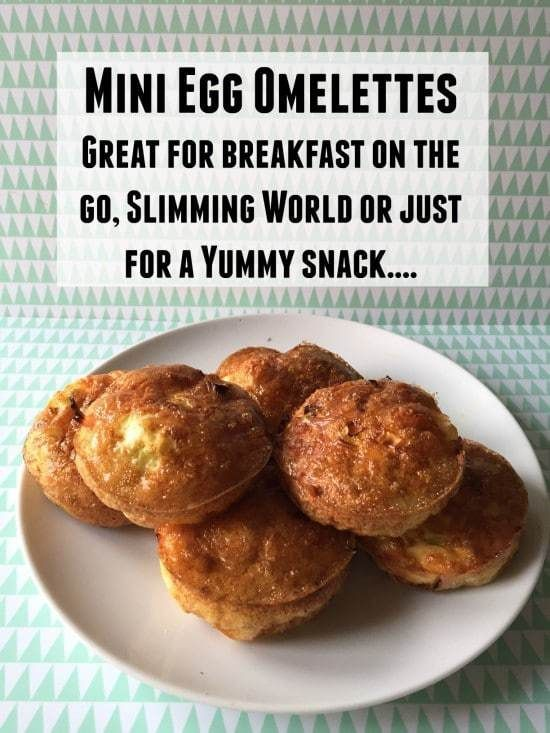 Mini Egg Omelettes - Great for breakfast on the go, Slimming World or just for a Yummy snack....