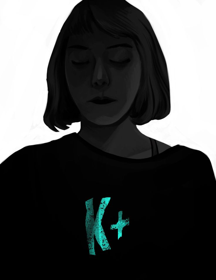 dark self portrait