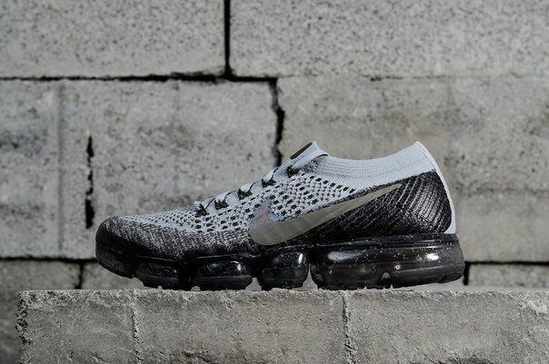 3626a9f7b7c Authentic Nike Air Vapor Max 2018 Flyknit Light Grey Army Green Yellow  849558-012 Youth Big Boys Shoes