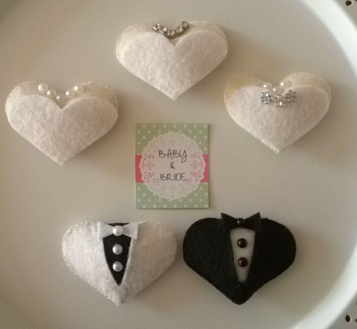 Elyaf dolgulu Gelin & Damat Magnetler - Fiber filled magnets for Wedding souvenir