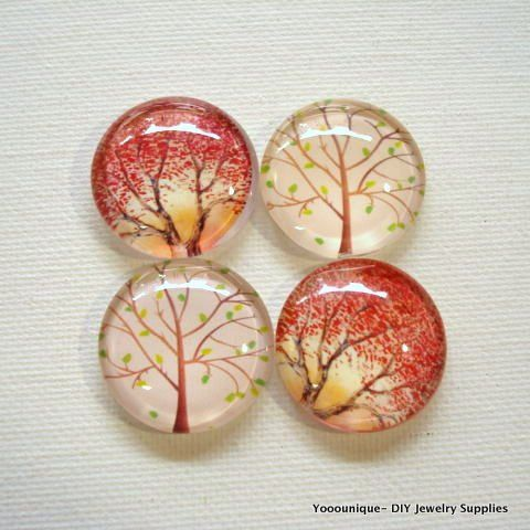 4pcs 25mm Mix Handmade Tree Glass Photo Cabochons PC618-M25 - https://www.etsy.com/listing/287564221/4pcs-25mm-mix-handmade-tree-glass-photo?utm_source=socialpilotco&utm_medium=api&utm_campaign=api  #supplies #cabochon