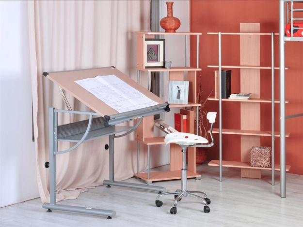 Drawing table - Desktop & draw table in one Adjustable drawing work study table desk white bedroom home furniture