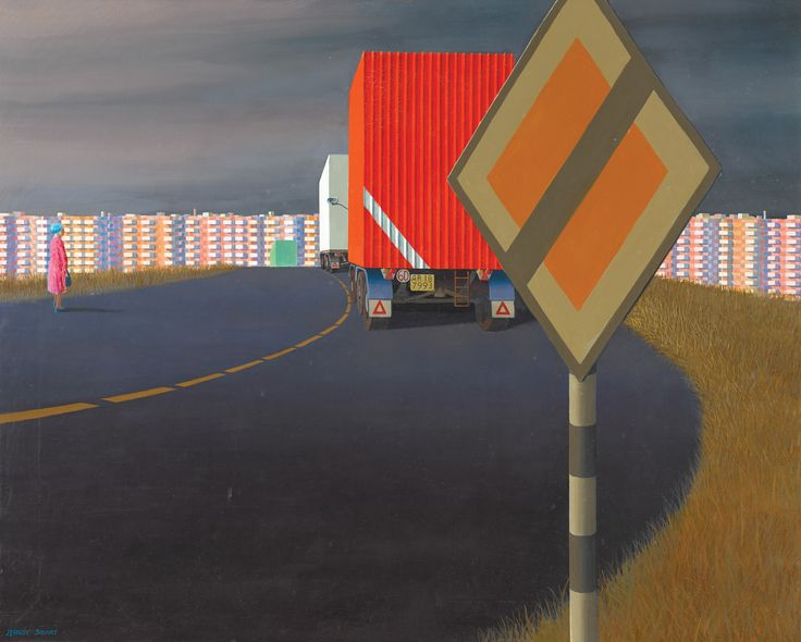 Jeffrey Smart, Radial Road (1972)