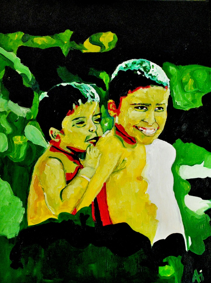 Brothers, oil on canvas, by me