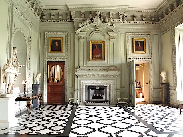 The Marble Hall at Petworth House in England inspired the hall at The Manor