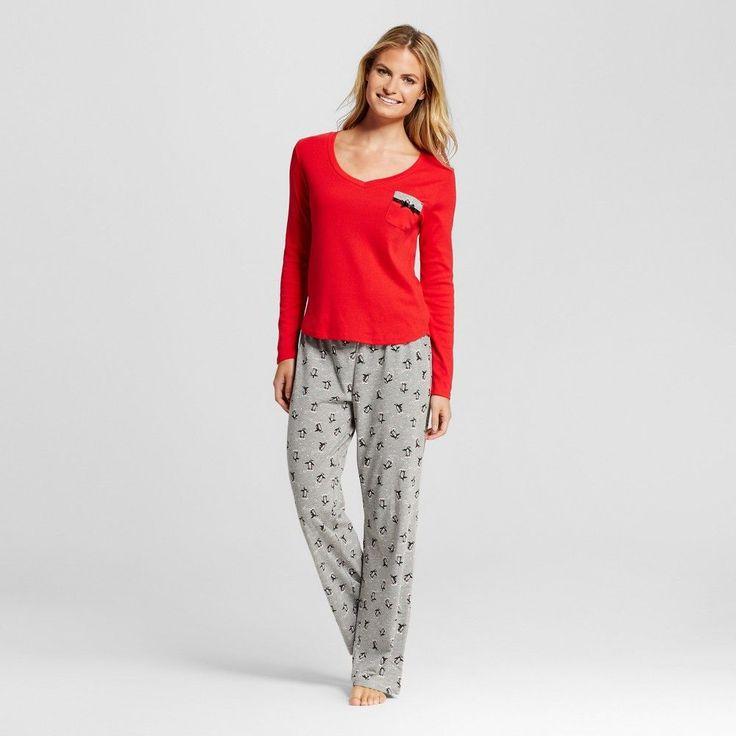 Laura Ashley Women's Pajamas Set - Skating Penguin