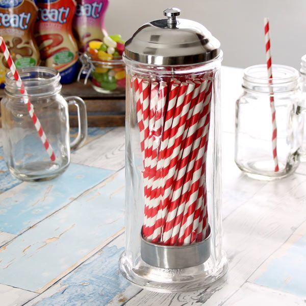 Glass Straw Dispenser
