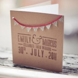 This invite was made in a jiffy and cost very little... you can make it yourself with our easy peasy step by step guide.