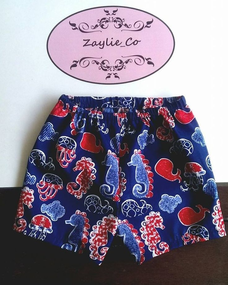 Cute seahorse printed shorts made by Zaylie_Co