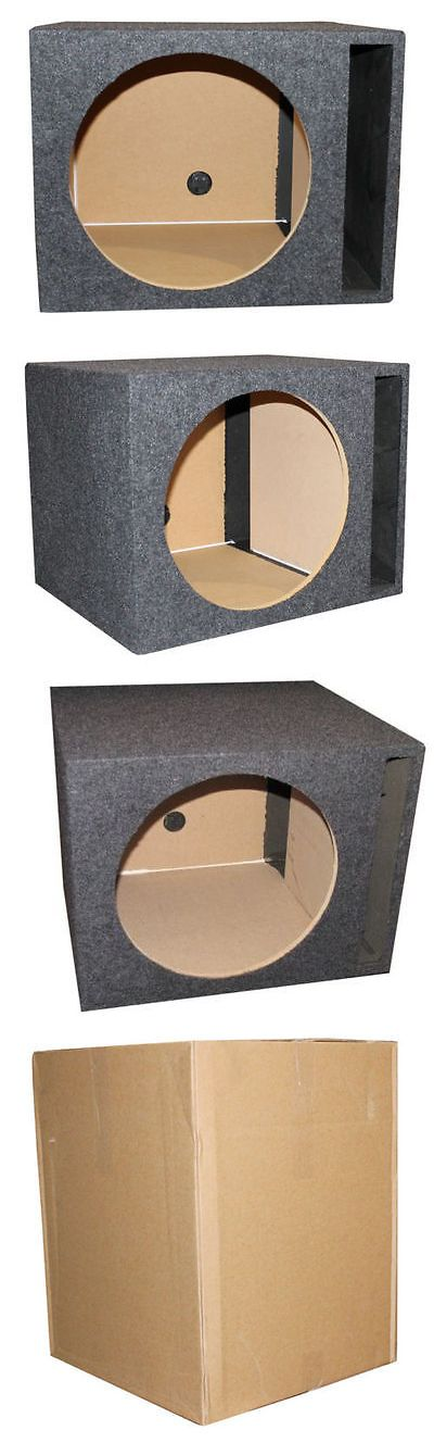 Speaker Sub Enclosures: Car Audio Enclosure Box Sub Subwoofer Speaker 15 Inch Bass Ported Single Power BUY IT NOW ONLY: $56.27