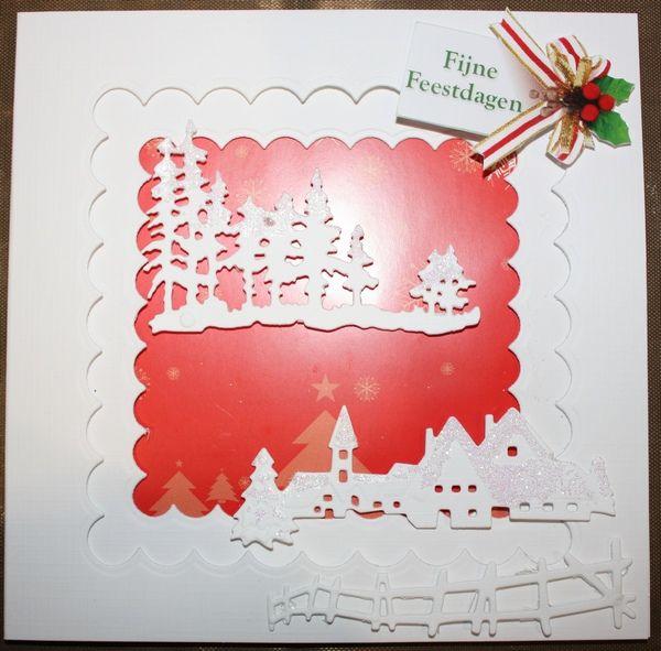 Kerstkaart benodigdheden Marianne Design