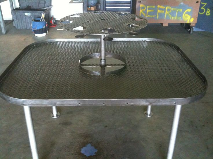 All stainless steel crawfish table lpx designs for Steel table design