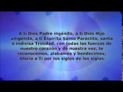 Trisagio Angélico a la Santísima Trinidad - YouTube