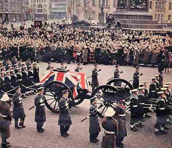 In 1965, Churchill's coffin