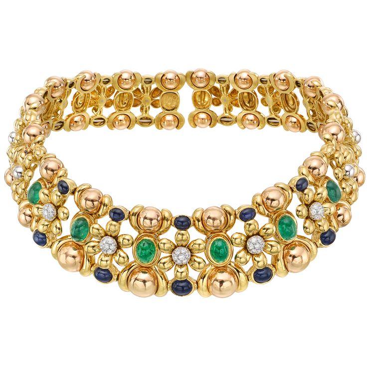 http://www.betteridge.com/chantecler-18k-gold-gem-set-floral-choker-necklace/p/8702/