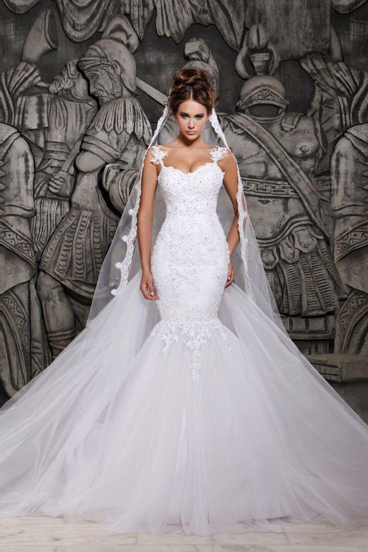 Vestido de Noiva Sereia Cauda Watteau AliExpress - (o link para compra encontra-se na página do artigo)