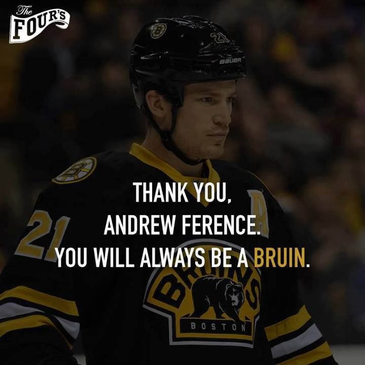 TY Andrew Ference You Will Always Be a Boston Bruin