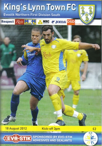 Home vs Chasetown FC   18th Aug 2012  Evostik N Div1 S