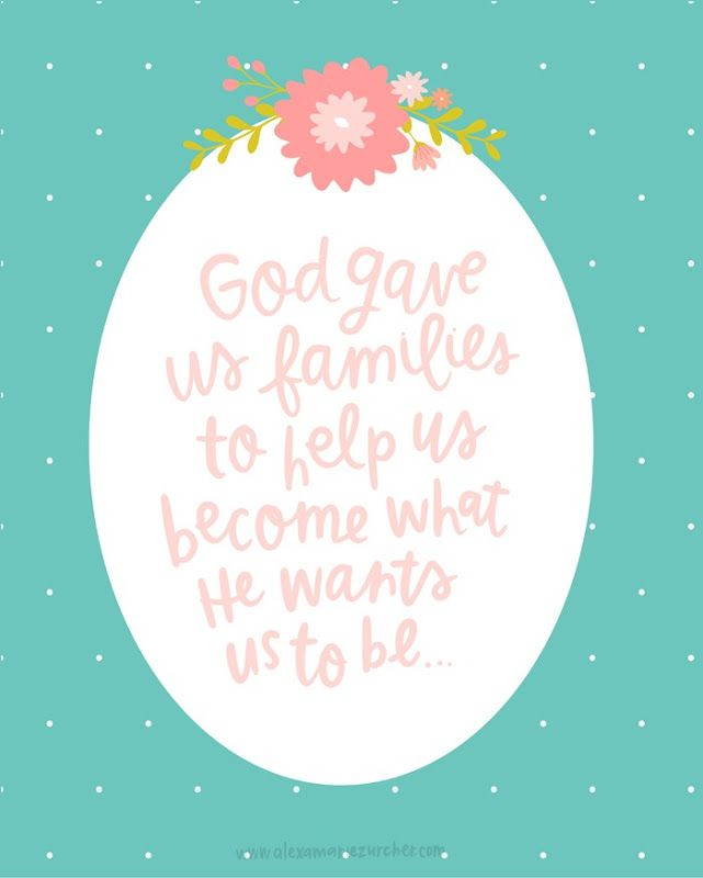 LDS Women's Meeting Printables - God Gave us Families Free Printable