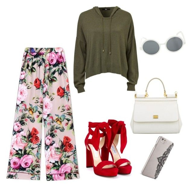 """""""WelcomeToTheJungle"""" by yittyweider on Polyvore featuring Dolce&Gabbana, Jimmy Choo and Nanette Lepore"""