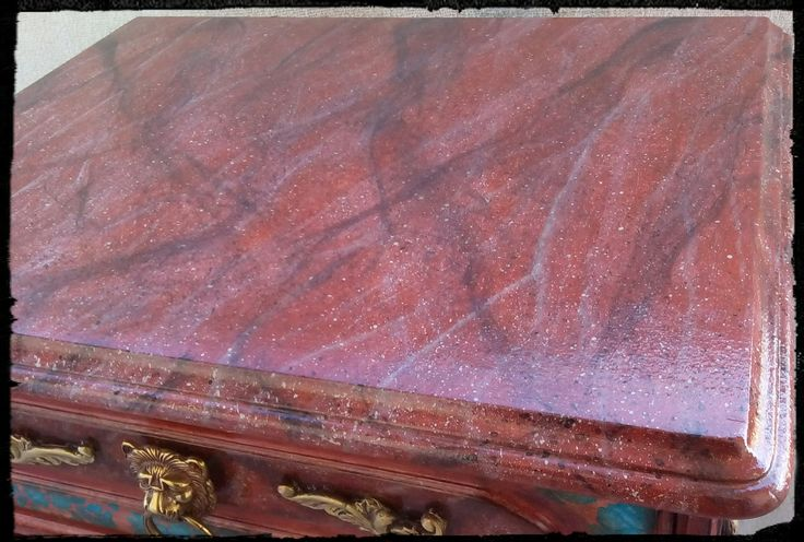 Το αγαπημένο μου εφέ μαρμάρου αυτή τη φορά σε γυαλιστερό κόκκινο όνυχα! My favorite marble effect this time on a shiny red onyx!