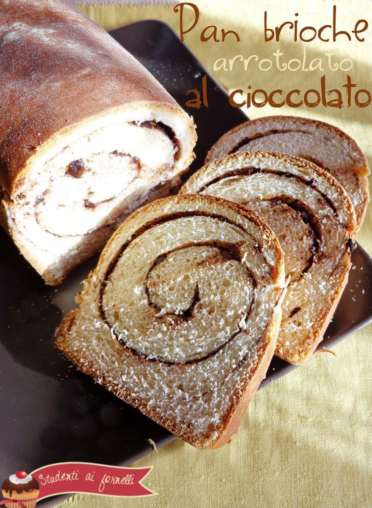 Pan brioche arrotolato al cioccolato   Ricetta pan brioche soffice