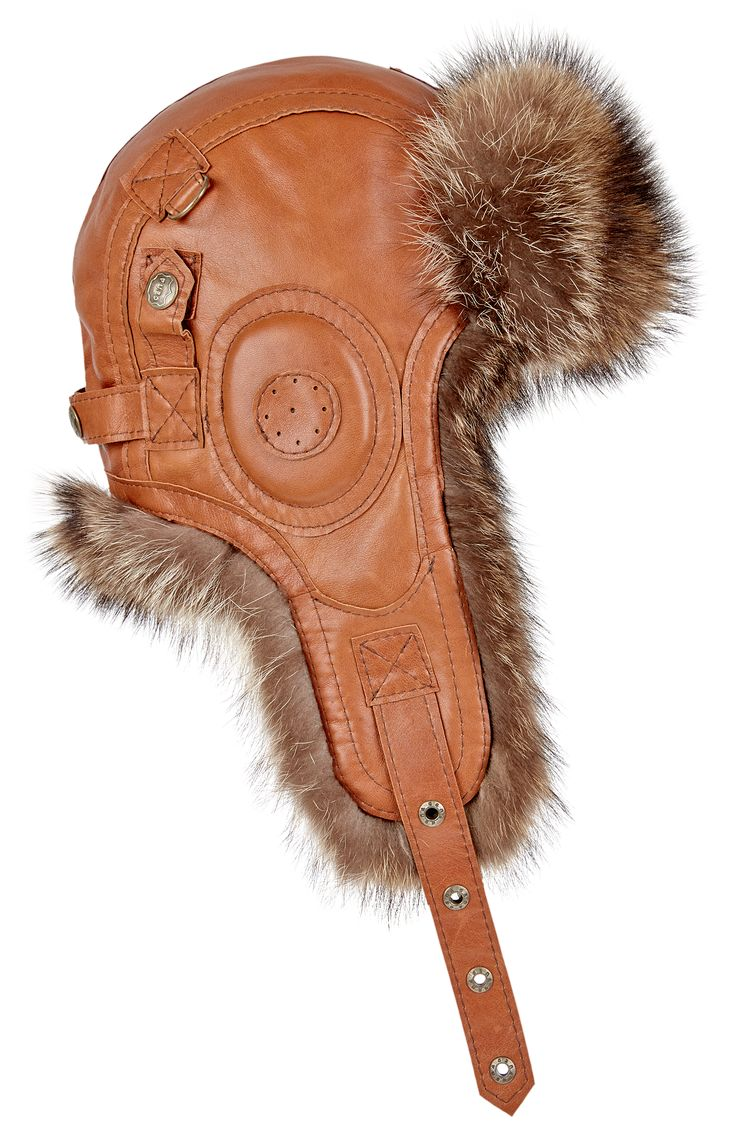 Rekrut SZOP hat is made of leather and american raccoon fur! by Gena