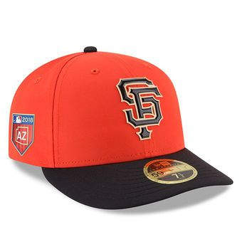 5ca2af71b0a Men s San Francisco Giants New Era Black 2018 Spring Training Collection Prolight  Low Profile 59FIFTY Fitted Hat