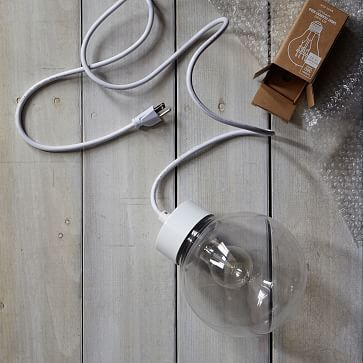 Outdoor Cord Set,White - NON CFL #westelm