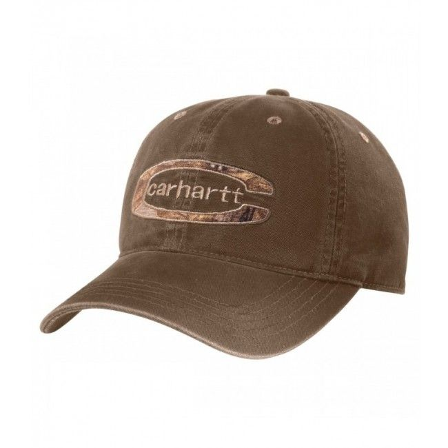Carhartt Cedarville Cap – Canyon Brown. #Carhartt logo embroidered on front.