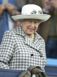 Queen Elizabeth II at the 2015 Horse Eventing European Championships in Blair Castle, Scotland, 13 September 2015.