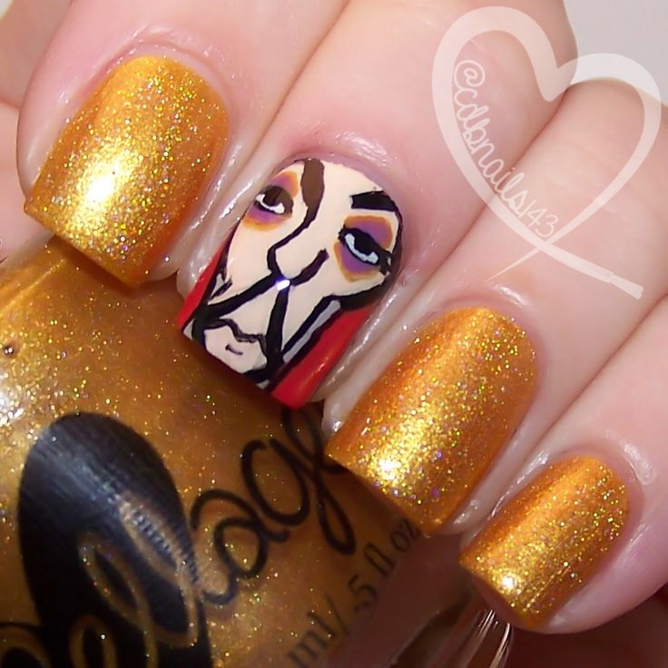 Whoever Has The Gold Makes The Rules by ellagee.com with nail art by cdbnails.