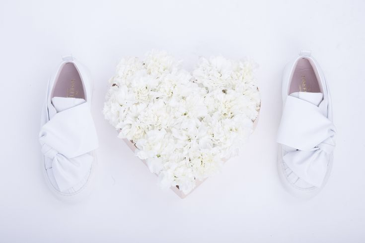 NEW!  Special kicks for brides! Meet Josefinas Dream Big White and live your happily ever after in style.   #sneakers #for #brides #bride #wedding #shoes #weddingshoes #flats #flatshoes #white #handmade #specialday
