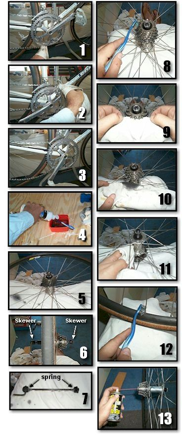 Bicycle Cleaning & Maintenance 101 - Cleaning the Bike Wheels and Rear Cassette