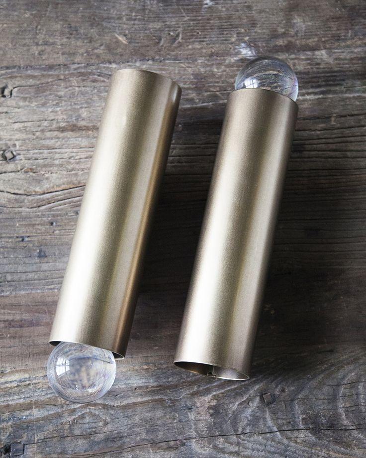 Handle Studio | Brass lamp 300х80х80 mm, 2 lamps E14