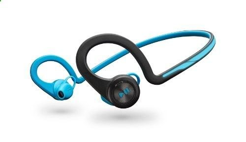 Plantronics BackBeat Fit Ultra-Light and Water and Sweat-Proof Wireless Headphones with Mic - Compatible with iPhone, iPad, Android, and Other Leading Smart Devices - Blue Plantronics