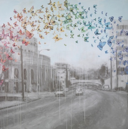 A swarm of butterflies.: Butterflies Rainbows, Sage Vaughn, Inspiration, Rainbows Colors, Beautiful, Colors Butterflies, Artistaday With, Los Angeles, Artists Sage