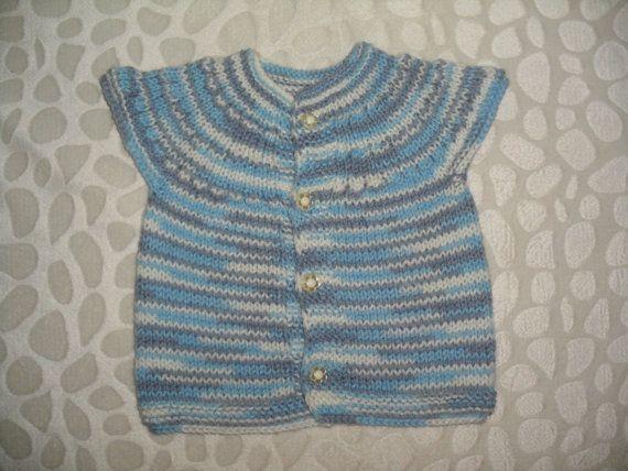 Knit vest baby vest gift vest men vest newborn vest by belzebul