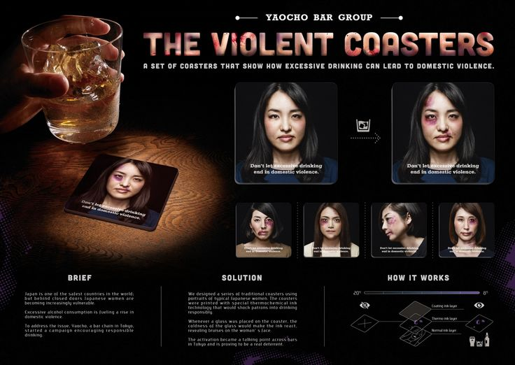 Cold Drinks Give the Women on These Bar Coasters Sudden Cuts and Bruises | Adweek