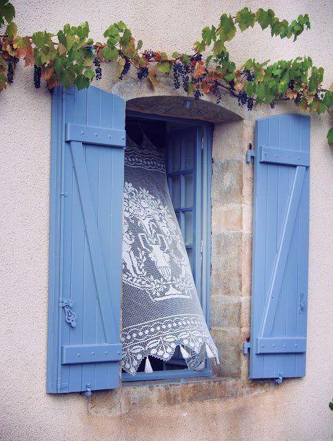window with slight breeze