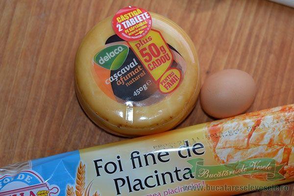 Ingrediente Pachetele cu Cascaval