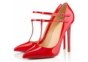 Новых женщин туфли на высоком каблуке сексуальные женские острым носом красной подошвой 11 см классический ну вечеринку партийная стилет тонкий высокие каблуки свадебный неоновые ню туфли на высоком каблуке, XWD409