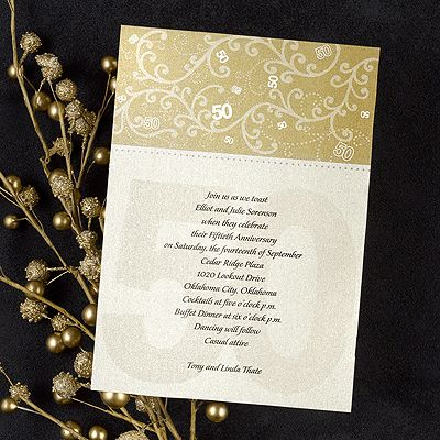 26 best 50th Anniversary Party images on Pinterest 50th wedding - fresh invitation samples for 50th wedding anniversary