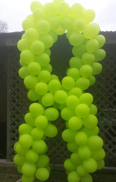 Hodgkins lymphoma ballon ribbon. For a cancer free party