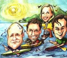 Caricature of Company Holidays- Karikatures.com #art #caricature #cartoon #boss #comapny #personalized #ink #handdrawn